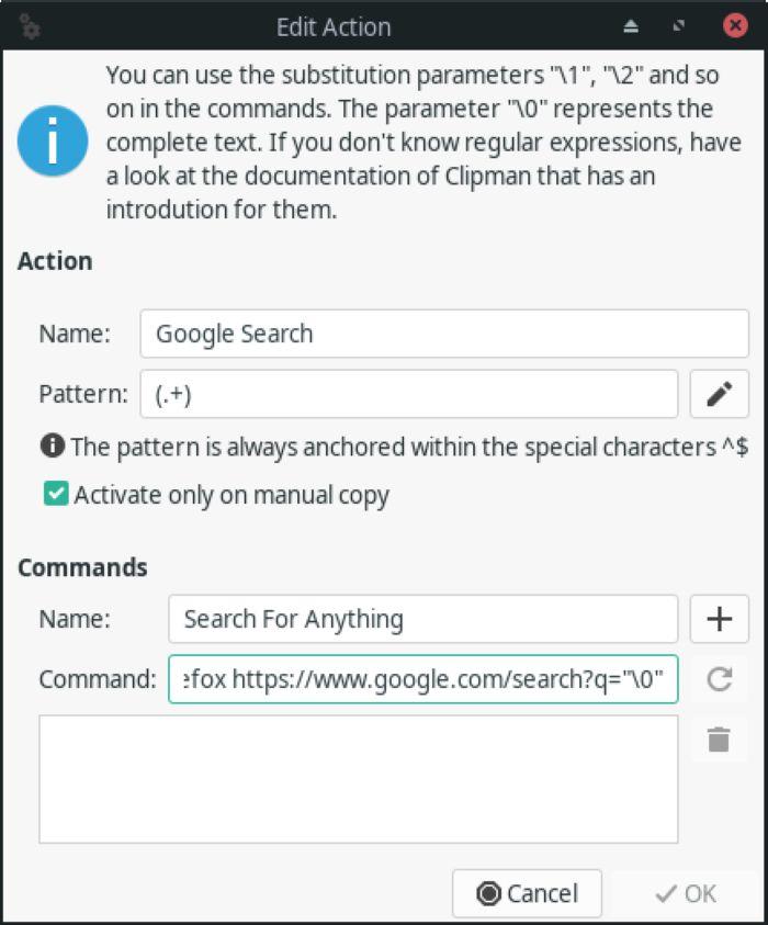 Clipman Edit Action Command