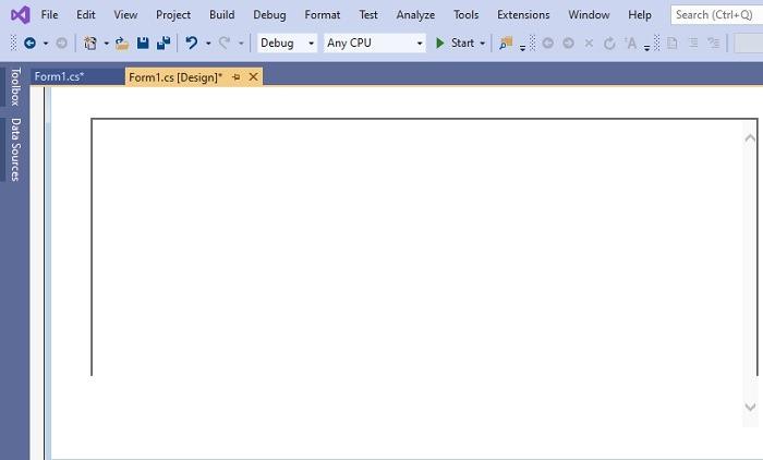 Drag Browser Borders Visual Studio