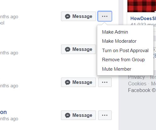 Facebook Groups Make Admin