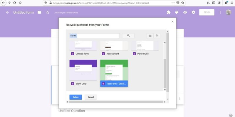 Featured Google Form Recycler