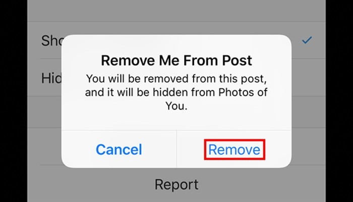 Instagram Removetag