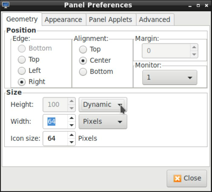 Lxde Panels As Launchers Panel Geometry