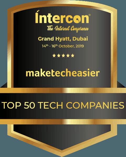 Make Tech Easier Top 50 Badge