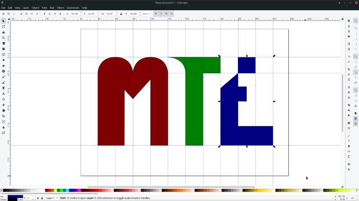 Making Logos With Inkscape Adding Color