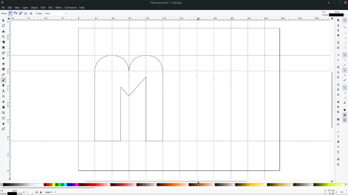 Making Logos With Inkscape Defined Shape