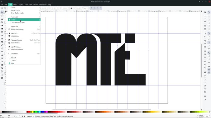 Making Logos With Inkscape Guides Display