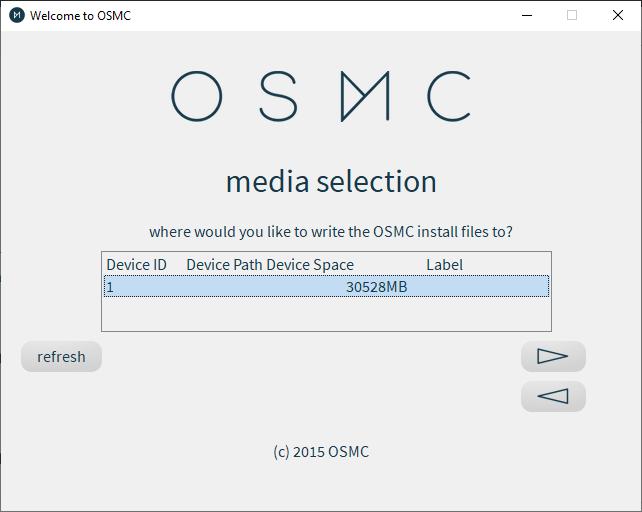 Osmc Installer Media Selection Menu
