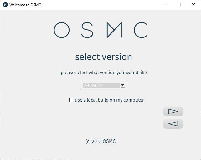 Osmc Installer Select Version Menu