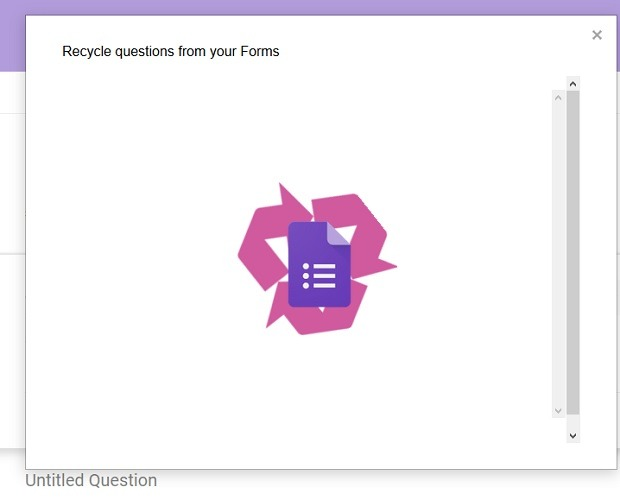Recycle Questions Form Feature