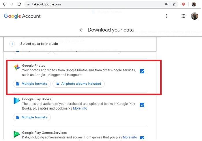 Saving Google Photos In Takeout