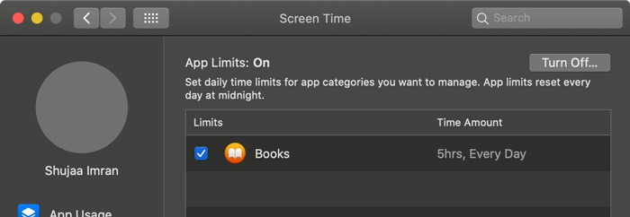 Screen Time Macos App Limits