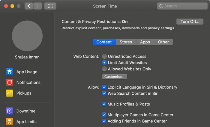 Screen Time Macos Privacy