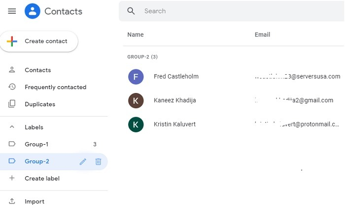 Searching Contacts By Label Gmail