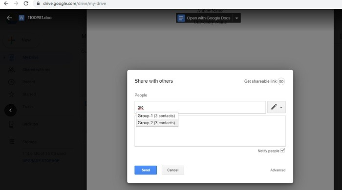 Sharing Google Drive Documents With Gmail Groups In Labels