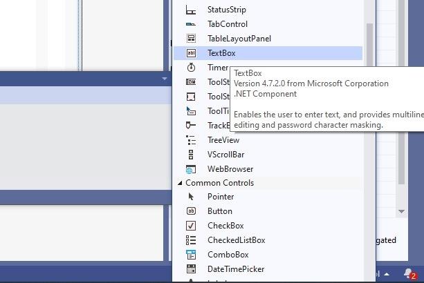Textbox Visual Studio Form