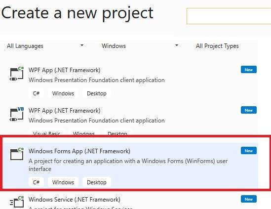 Windows Forsm App Visual Studio