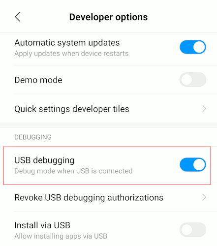 Android Uninstall Bloatware Usb Debugging