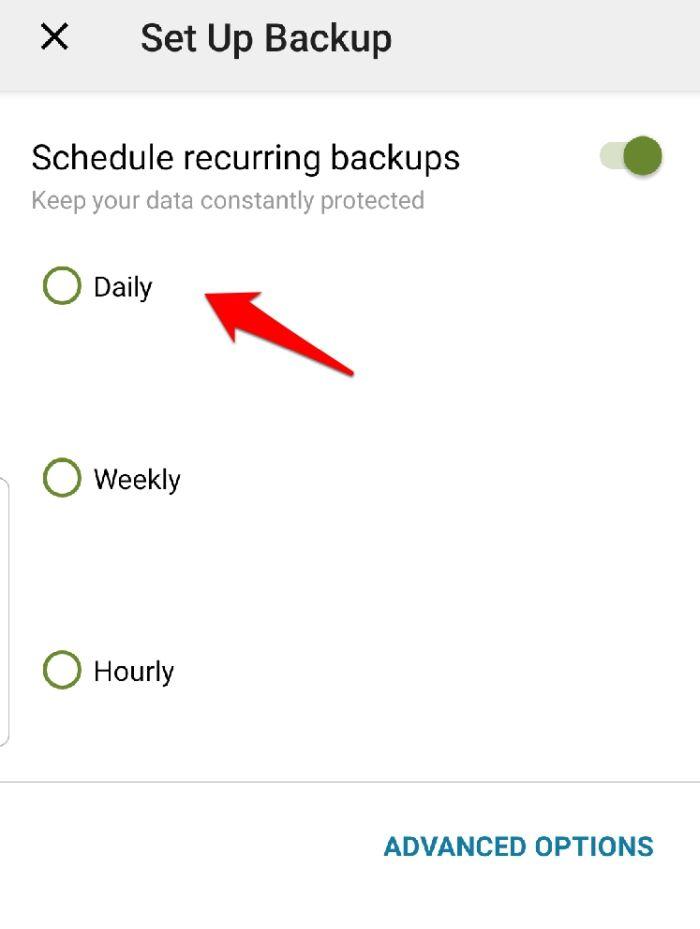Backup Sms Android Backup Intervals