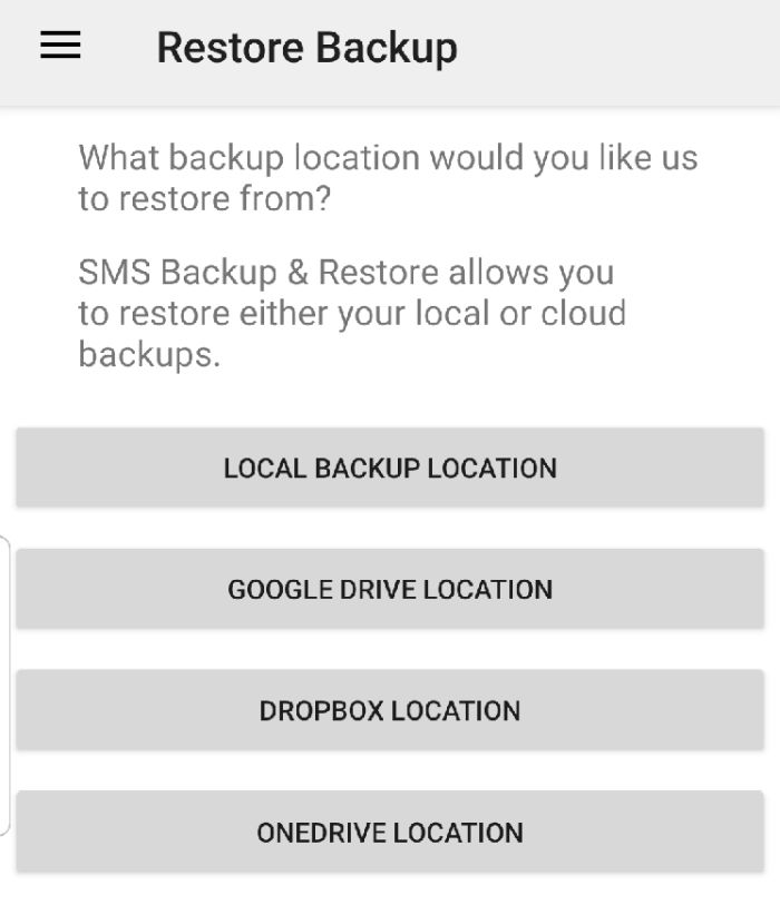 Backup Sms Android Restore Backup Location