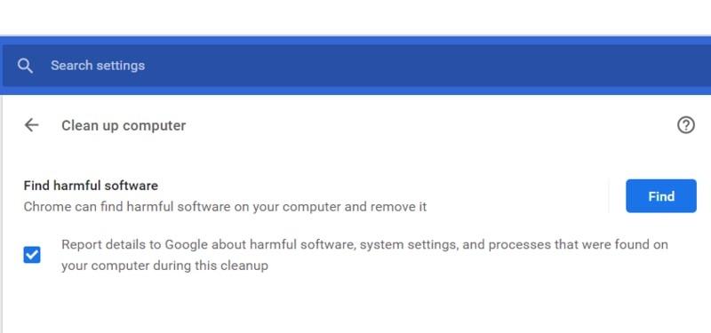 Chrome Virus Scanner