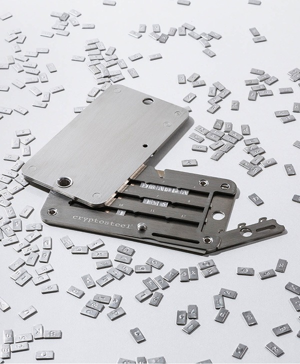 Crypto Safety Cryptosteel Unlocked With Letters