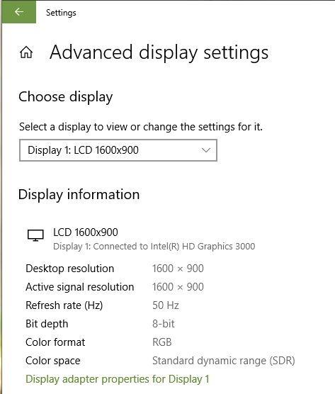 Dual Monitors Issues Refresh Rate Settings