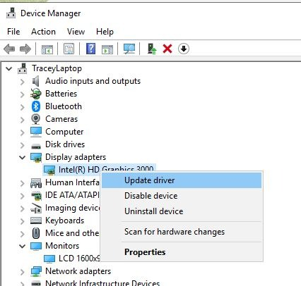 Dual Monitors Issues Update Drivers