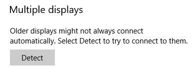 Dual Monitors Issues Windows Detect Multiple Displays