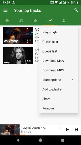 9 aplicaciones gratuitas de descarga de música para Android - 3