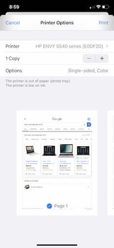 How To Print Iphone Options