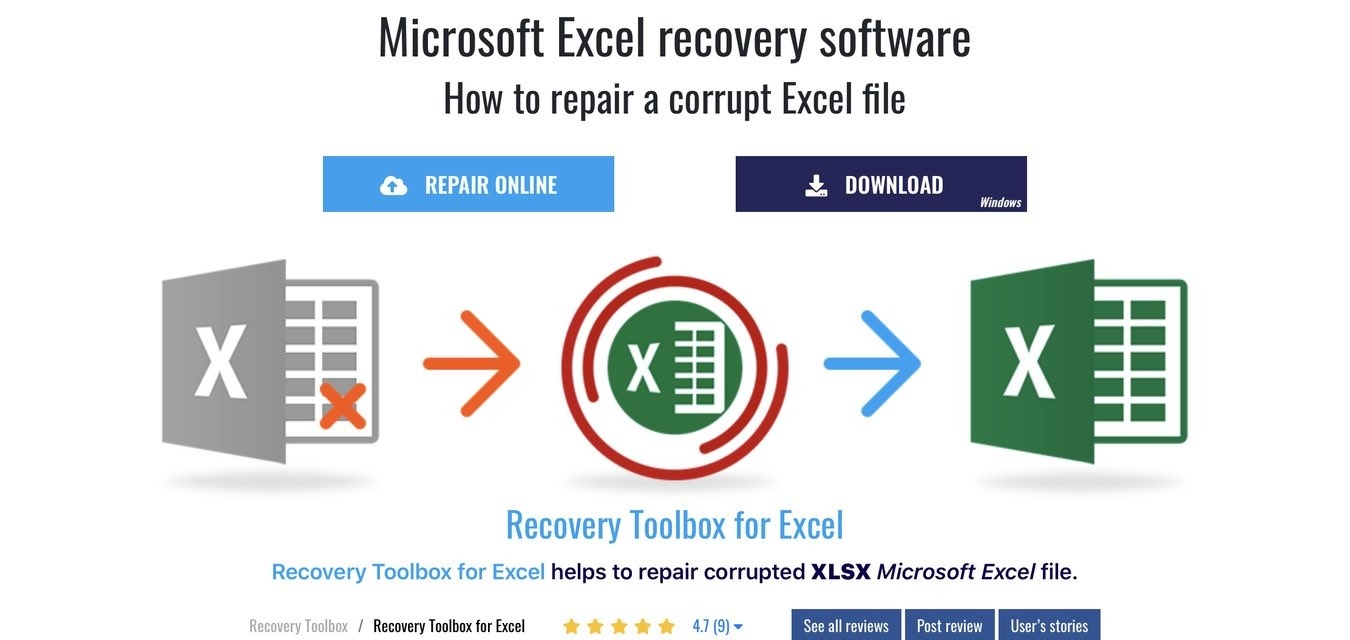How To Recover Excel File Recovery Toolbox Online Website