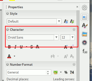 Libreoffice Change Font Calc Font Size