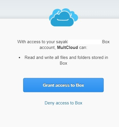 Box Account With Multcloud
