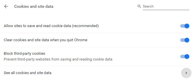 Cookies And Site Data