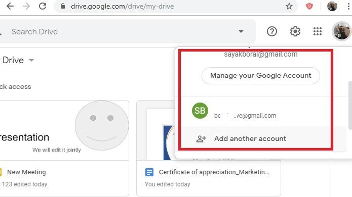 Google Drive Add More Accounts