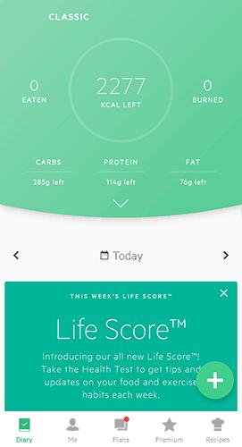 Lifesum Screenshot 2