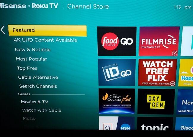 Roku Google Play Movies Music Photos Open Store