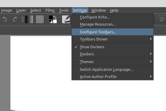 Sketch Like A Pro In Krita Configure Toolbars