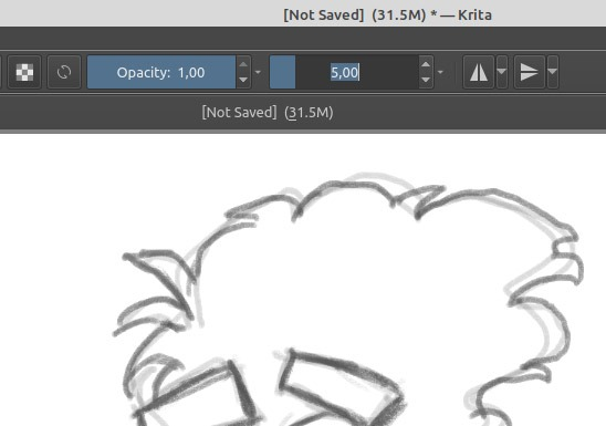 Sketch Like A Pro In Krita Reduce Brush Size