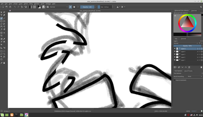 Sketch Like A Pro In Krita Using The Eraser