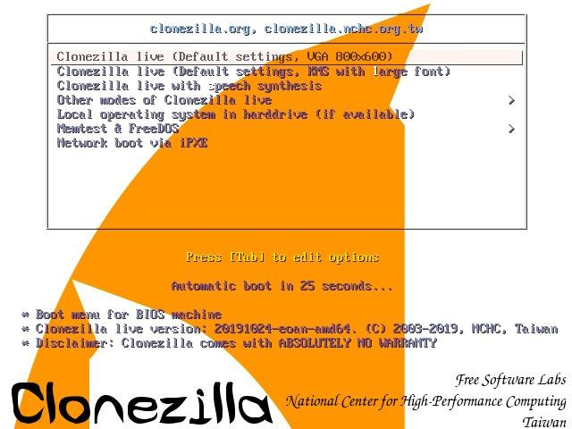 Virtualbox Hdd Upgrade Enter Clonezilla
