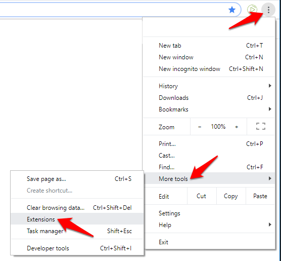 Chrome Crashing Not Working Chrome Menu More Tools Extensions