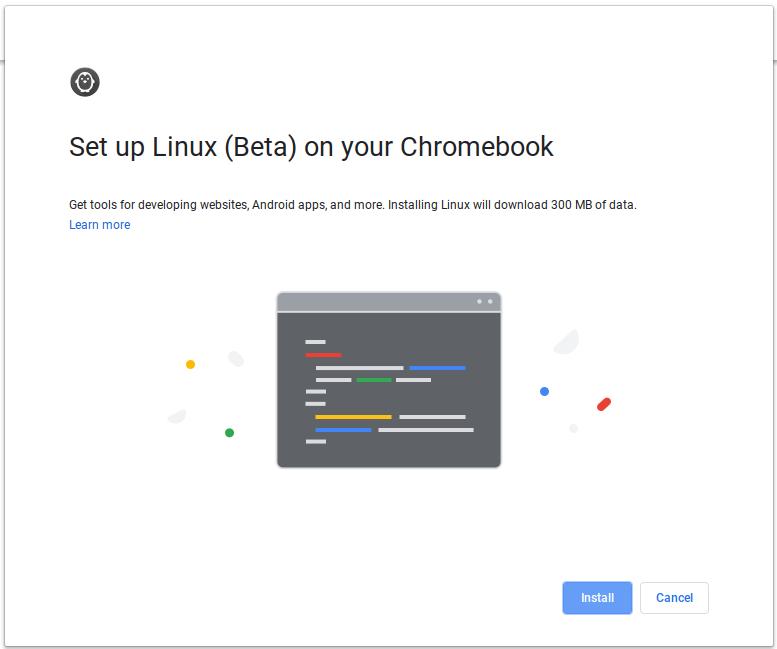 Chromeos Linux Beta Setup