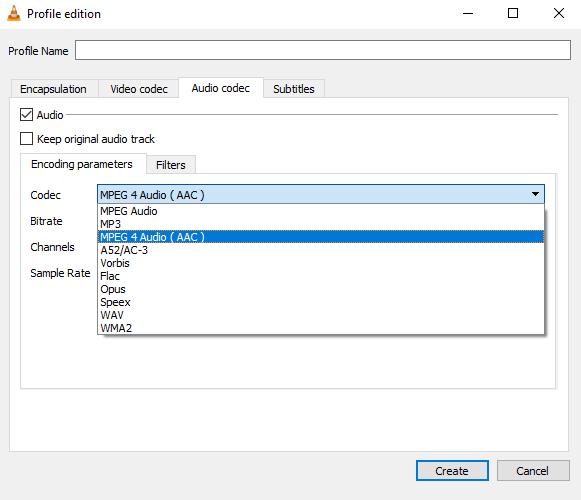 Convert Audio Files Using Vlc Convert Window