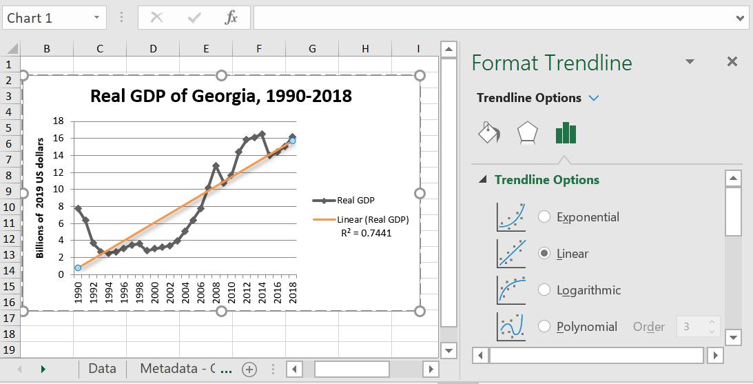 Excel Trendlines Linear