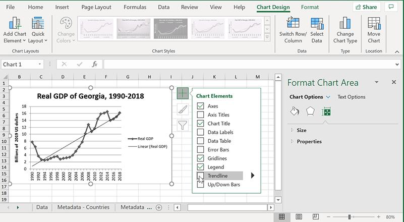 Excel Trendlines New Version Add