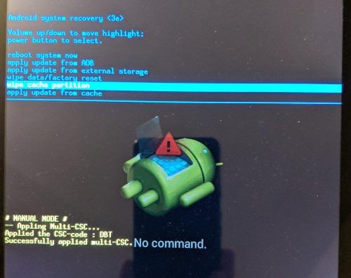 إصلاح بيانات الجوال لا تعمل على قسم مسح ذاكرة التخزين المؤقت لنظام Android