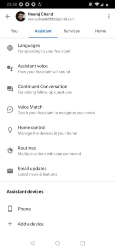 Google Assistant Phone Pairing