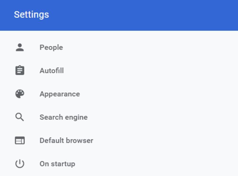 Google Settings Page