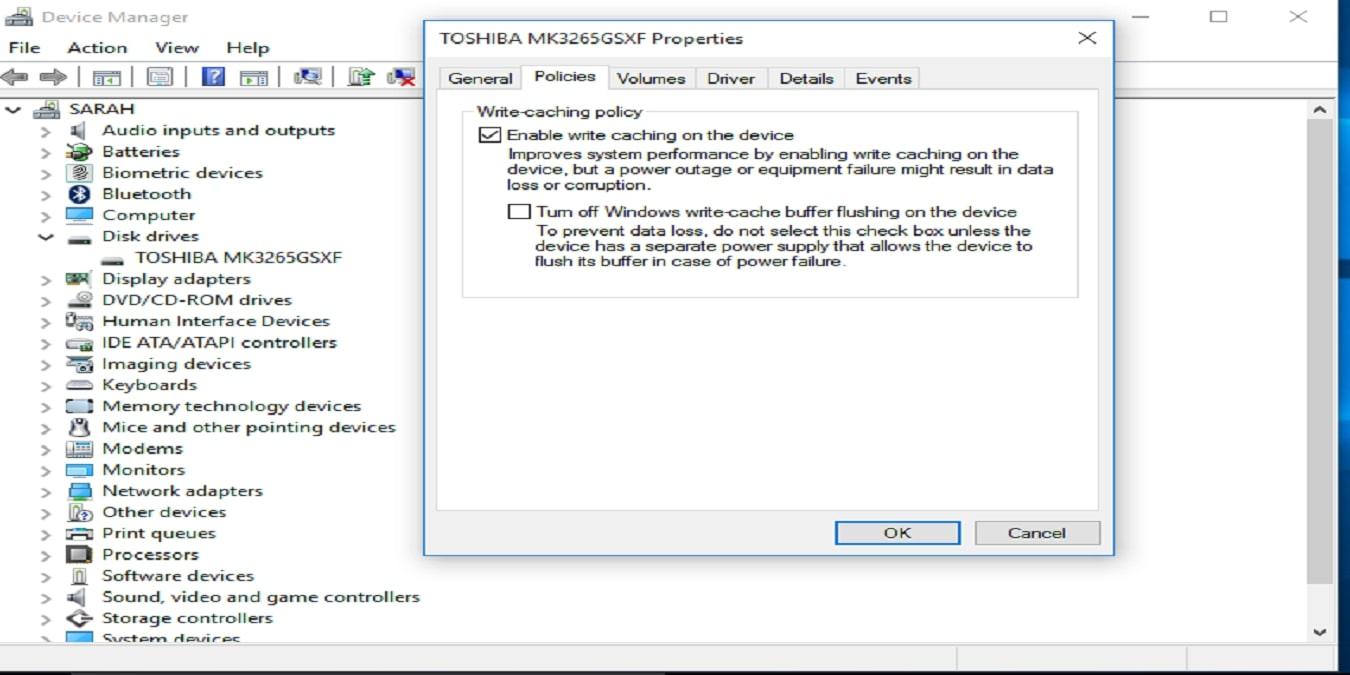 Hard drive Windows 10 Device Manager